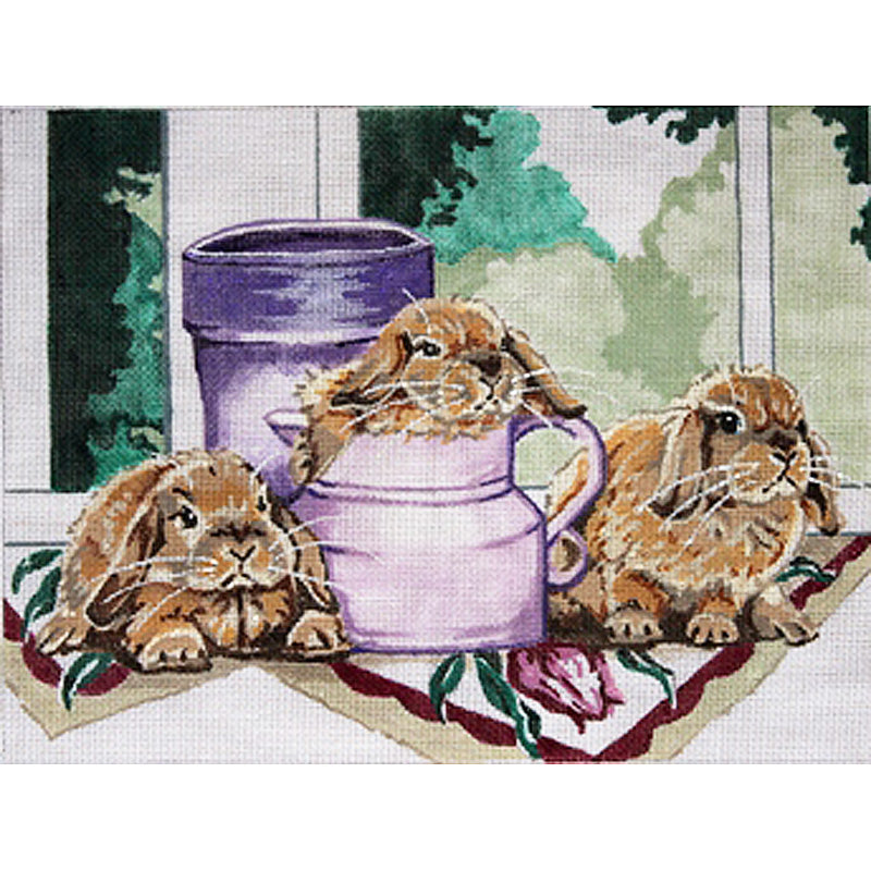Bunnies at the Windowsill