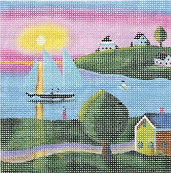 Klim Summer:  sunset on the boat - canvas only
