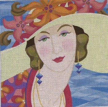 Vogue Lady in Hat - Canvas Only