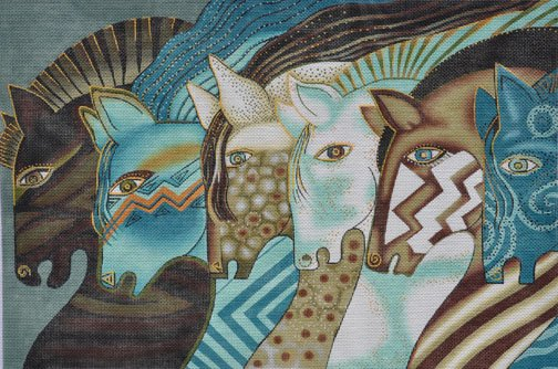 Embracing Horses by Laurel Burch - Canvas Only