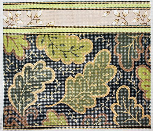 Green Leaves needlepoint - Canvas Only