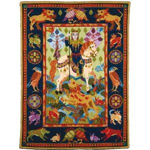 Lion Hunt Wallhanging