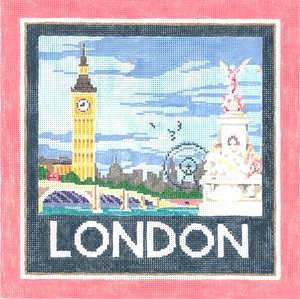 London Needlepoint By Sandra Gilmore - Canvas Only