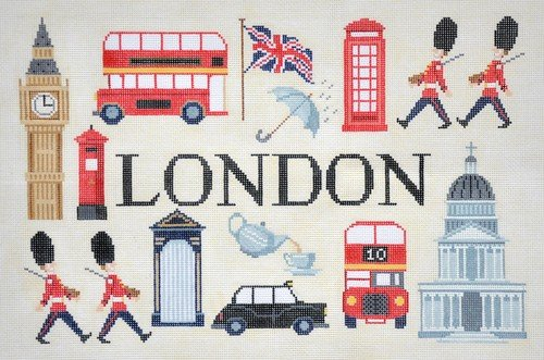 London Needlepoint Sights and Scenes - Canvas Only