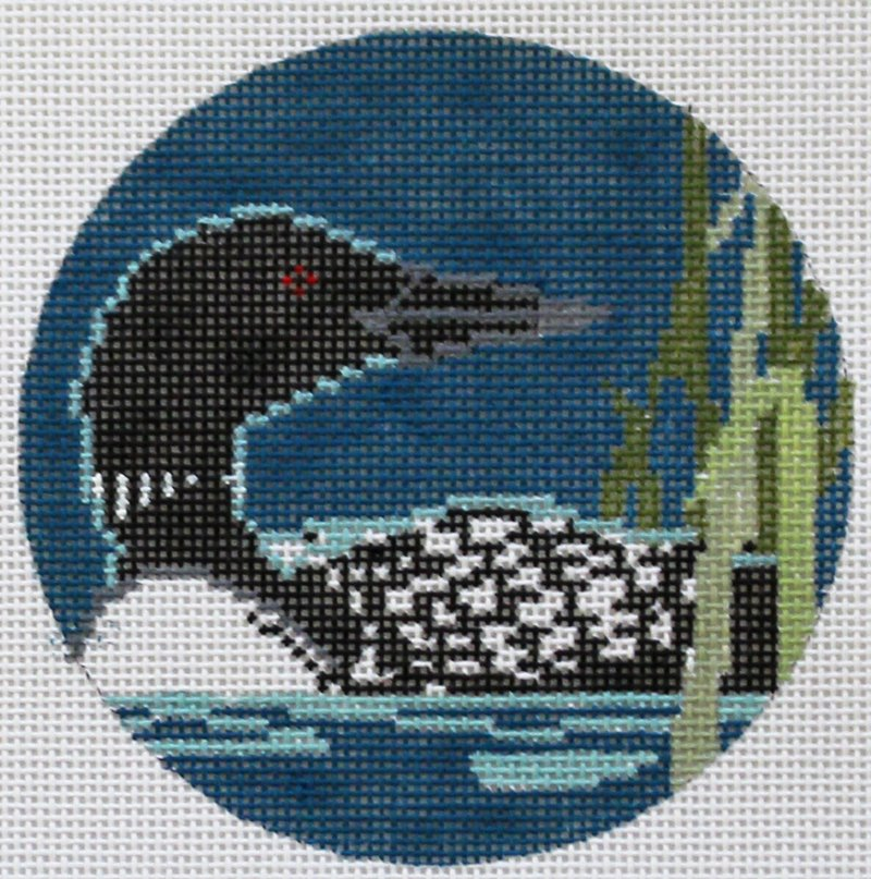 Loon needlepoint design by Cindy Lindgren