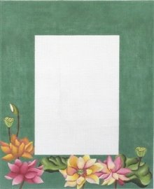 Lotus Garden Picture Frame - canvas only