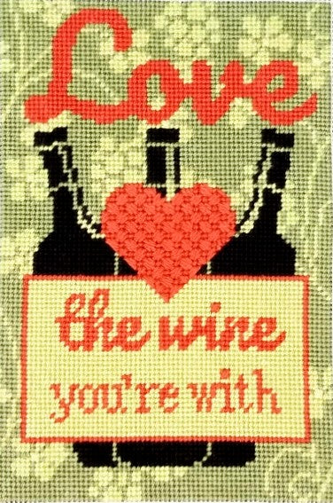 Love the Wine You're With Needlepoint Kit