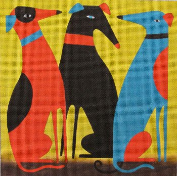 Greyhounds by Terry Runyan   - Canvas Only