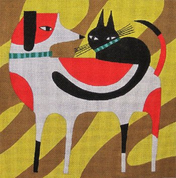 Cat on Back by Terry Runyan - Canvas Only
