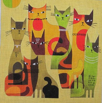 Cat Herd by Terry Runyan  - Canvas Only