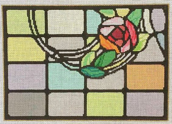Mackintosh Stained Glass Needlepoint - Canvas Only