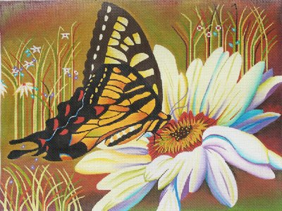 Butterfly and Daisy by Karen Dukes  - Canvas Only