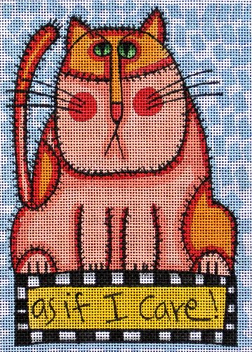 Maggie Needlepoint<BR>As If I Care - Canvas Only
