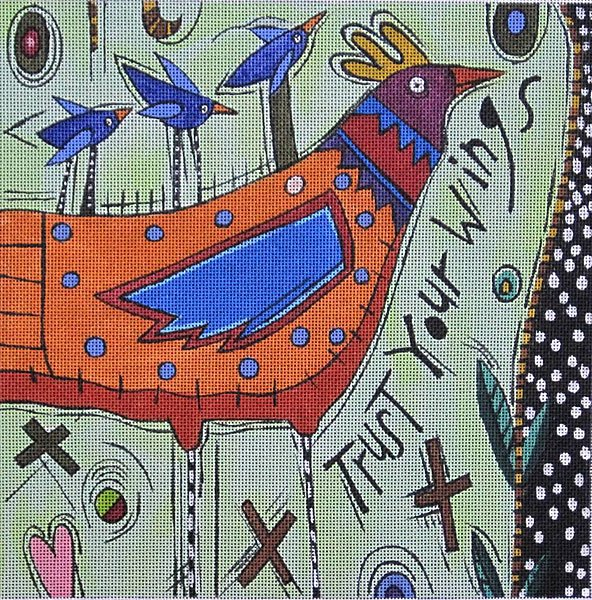 Maggie Needlepoint Trust Your Wings - Canvas Only