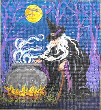 Halloween Needlepoint Magic Mischief - Canvas Only