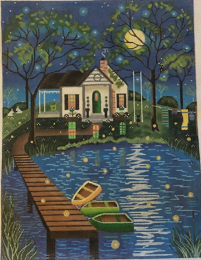 House on the Lake by Mary Charles - canvas only