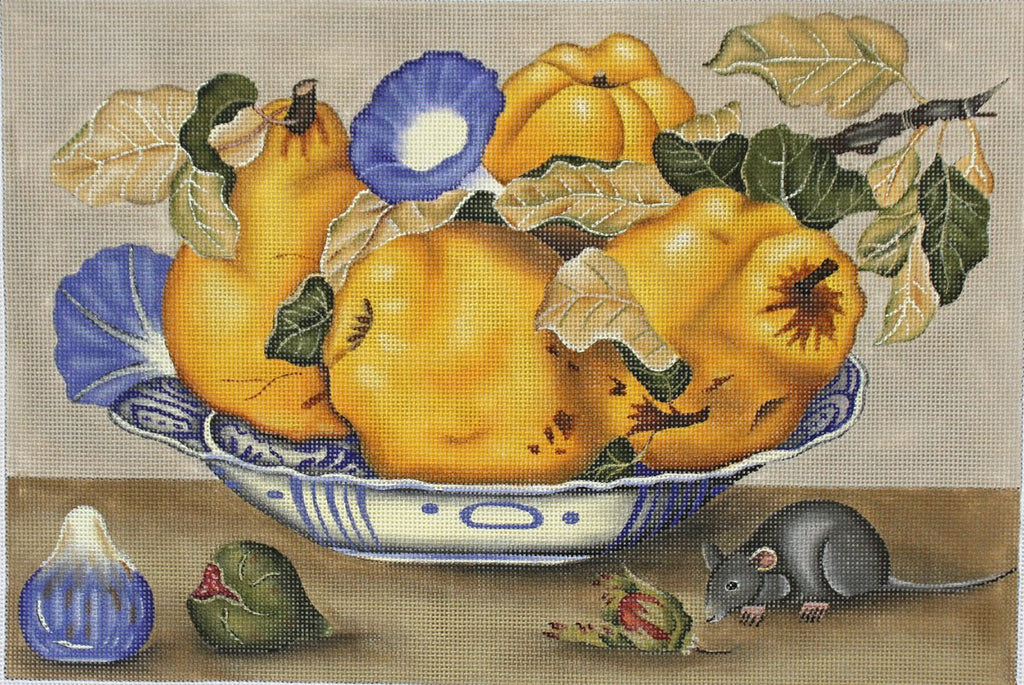 Pears needlepoint by Melissa Shirley