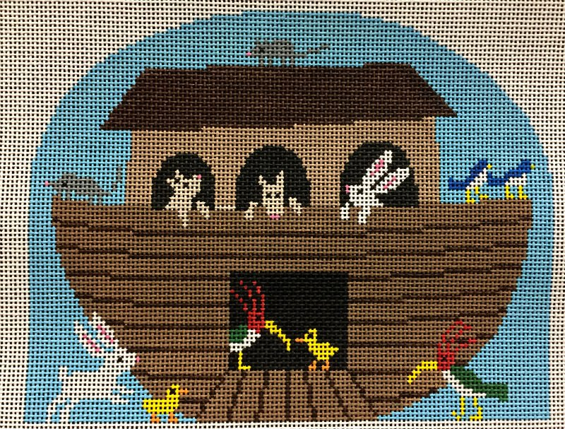 Noah's Ark Needlepoint - Canvas Only