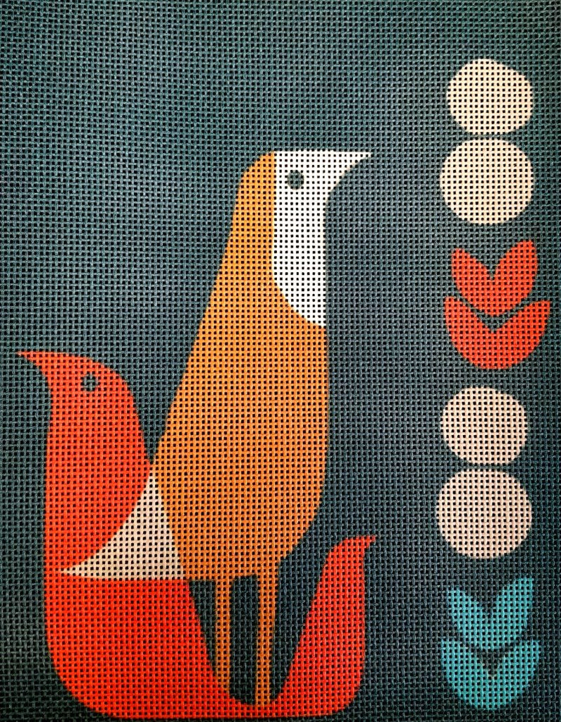 Thrush at Midnight Handpainted Needlepoint - Canvas Only