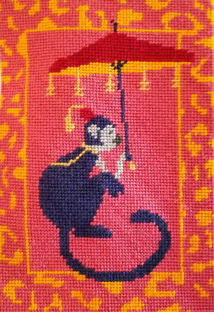 Chinoiserie Monkey Needlepoint Kit