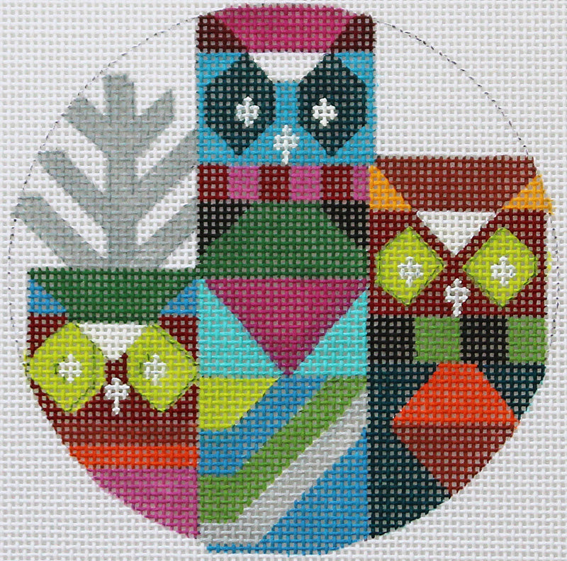 Abstract Owls Ornament By Melissa Prince