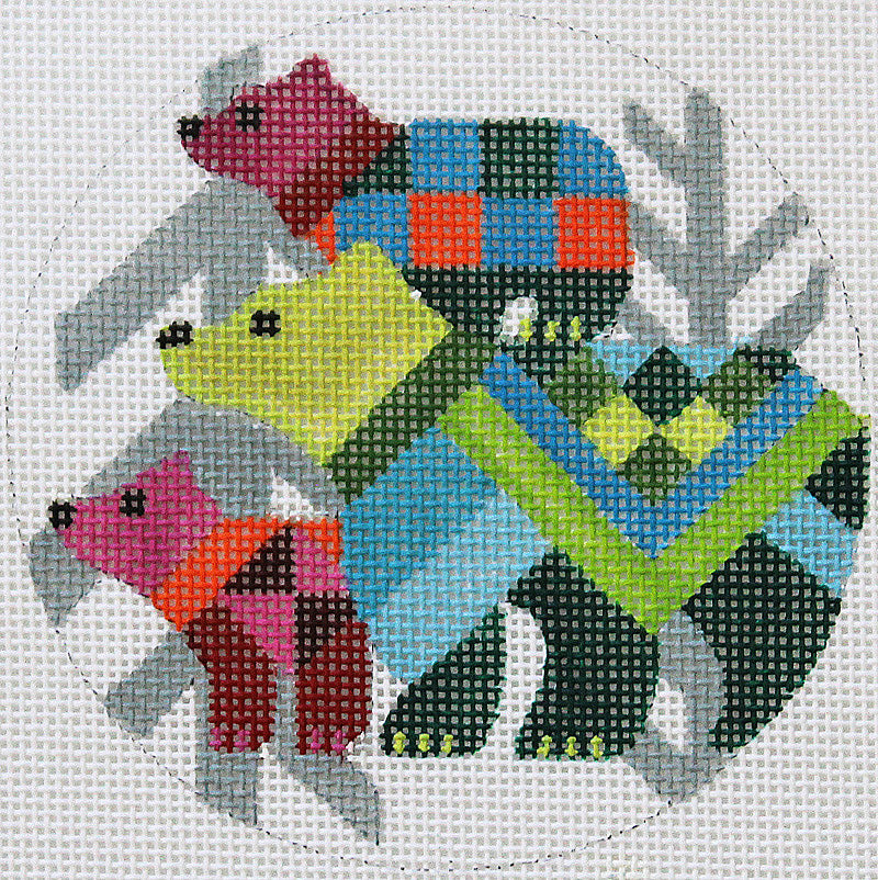 Abstract Bears Ornament By Melissa Prince