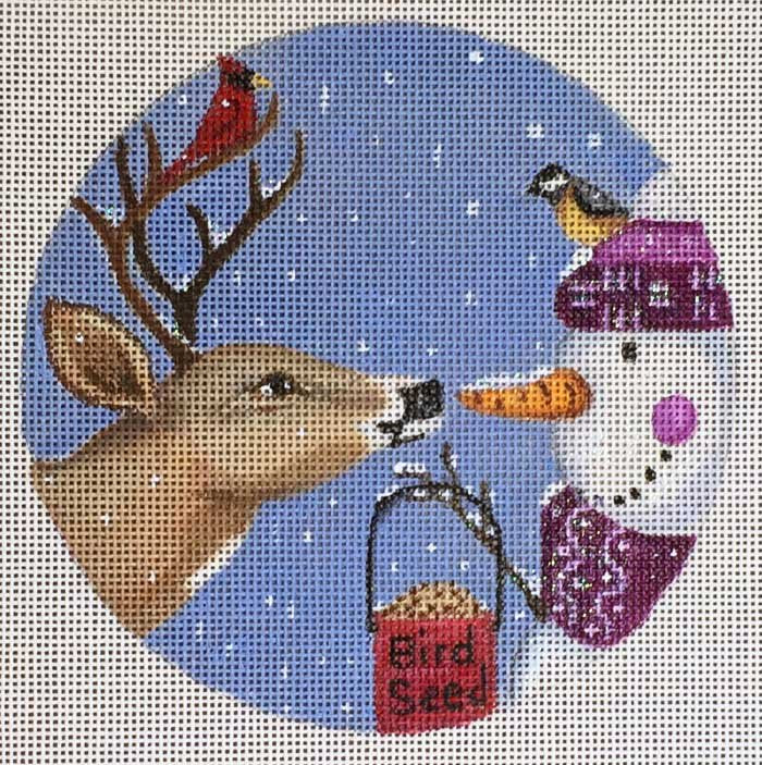 Needlepoint Christmas Ornament Temptation - Canvas Only