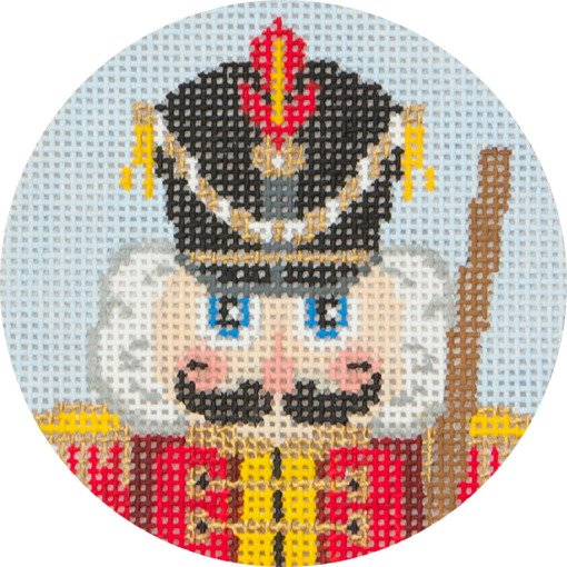 Needlepoint Christmas Ornament Nutcracker Soldier - Canvas Only