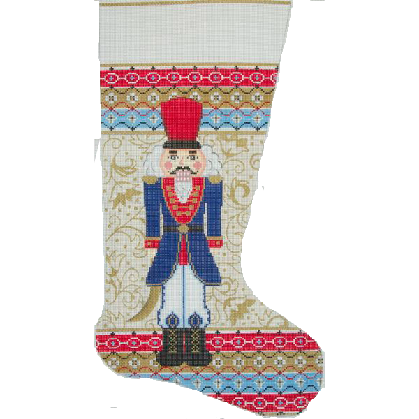 Needlepoint Christmas Stocking Regal Nutcracker by Alice Peterson