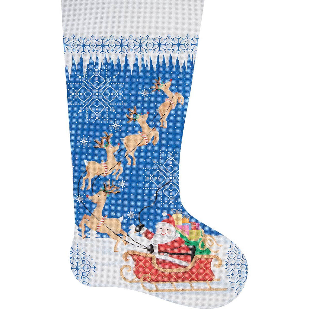Needlepoint Christmas Stocking Merry Christmas - Canvas Only