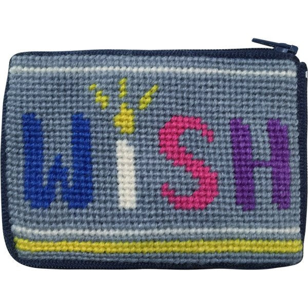 Beginner Needlepoint Kit Coin Purse Wish