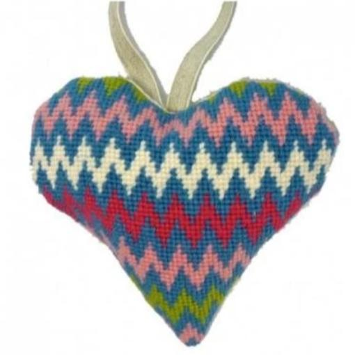 Needlepoint Ornament Heart Bargello