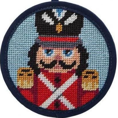 Needlepoint Christmas Ornament Kit Nutcracker Soldier