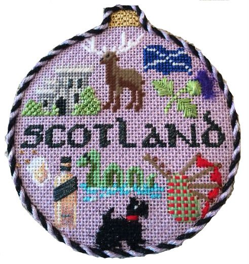 Scotland Needlepoint Ornament - Canvas Only