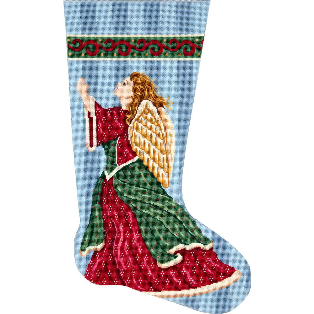 Needlepoint Stocking Kit Angel in Praise