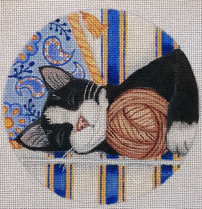 Nenah Stone Needlepoint Cat Nappin' - Canvas Only