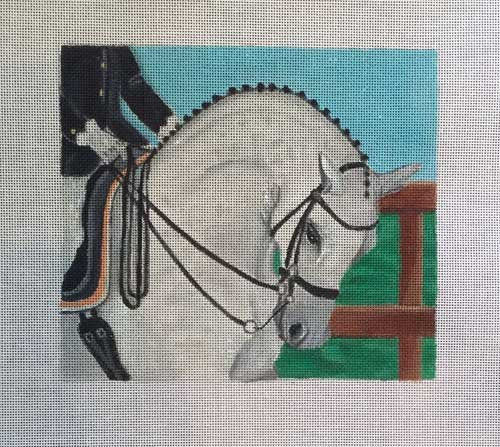 Dressage Horse Needlepoint - Canvas Only