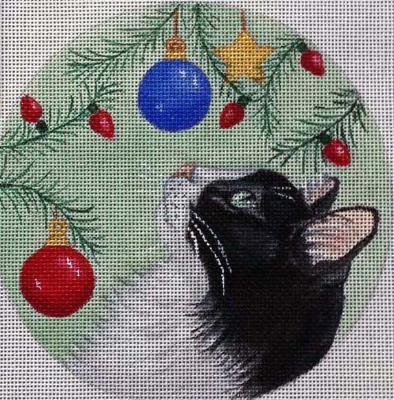 Needlepoint Christmas Ornament A New Toy - Canvas Only