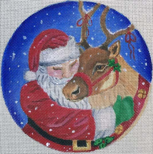 Needlepoint Christmas Ornament Santa's Favorite - Canvas Only
