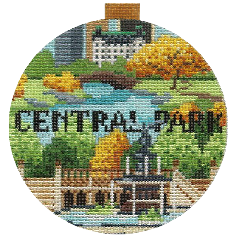 Central Park Needlepoint Travel Round
