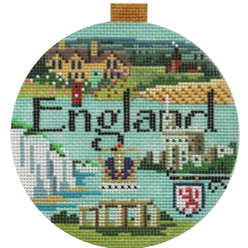 England Needlepoint Travel Round