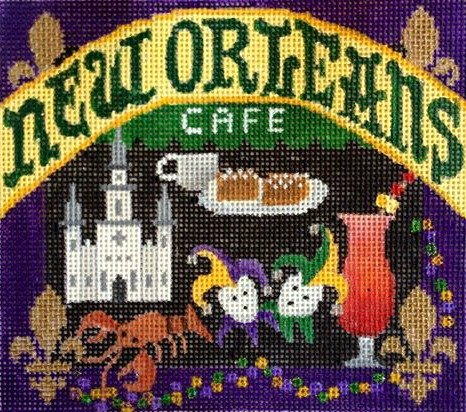 New Orleans Needlepoint - Canvas Only