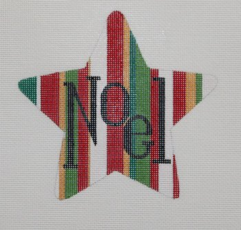 NOEL Star Christmas Ornament - Canvas Only