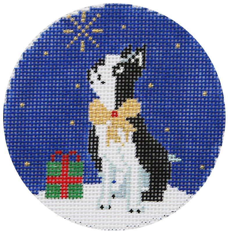Midnight Boston Terrier Needlepoint