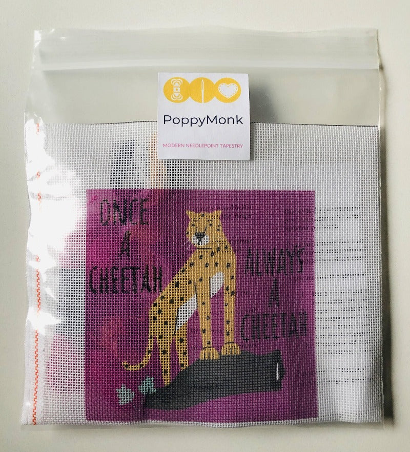 Once A Cheetah Always A Cheetah Small Needlepoint Kit