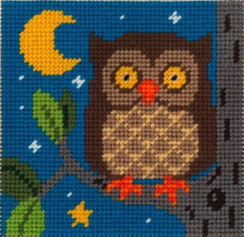 Beginner Needlepoint Kits Owl