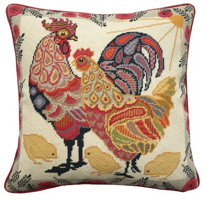 Hand Painted Hand Embroidery Needlepoint Canvas /'Urban Chicken/'