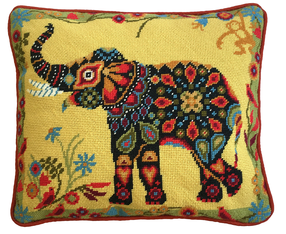 Painted Elephant Needlepoint Kit