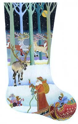 Passing out the Carrots Christmas Stocking - in stock - Canvas Only