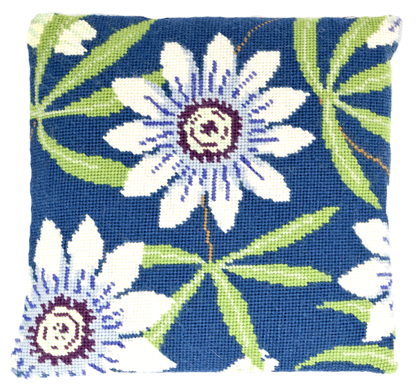 Needlepoint Pillow Kit Passion Flowers